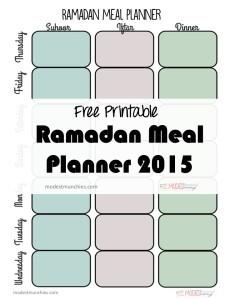 ramadan meal planner
