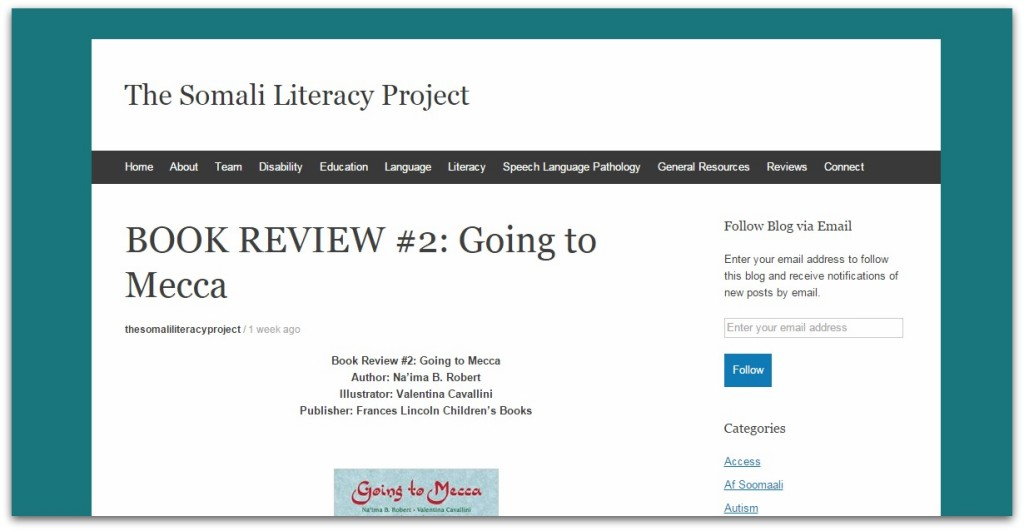 The Somali Literacy Project