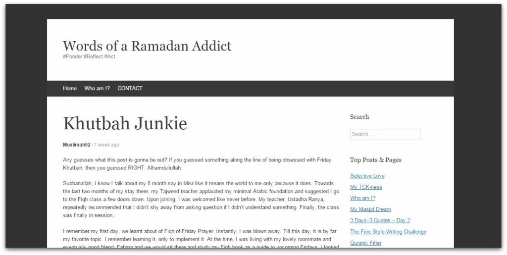 words of a ramadan addict