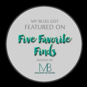 FIVE FAVORITE FINDS