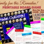 Ramadan Challenger Printable board game