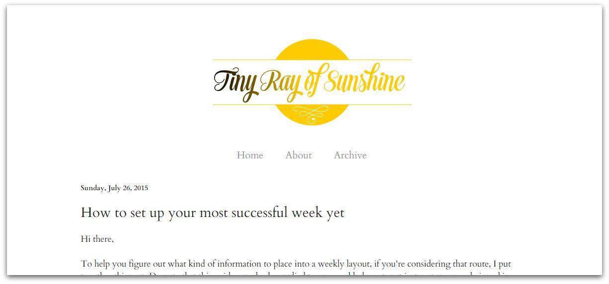 tiny ray of sunshine