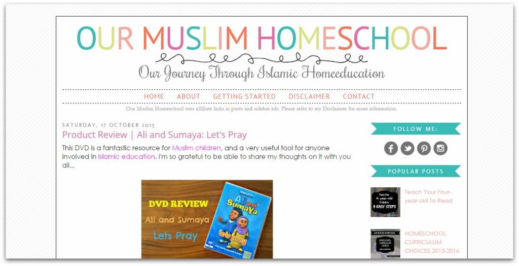 Our muslim homeschool