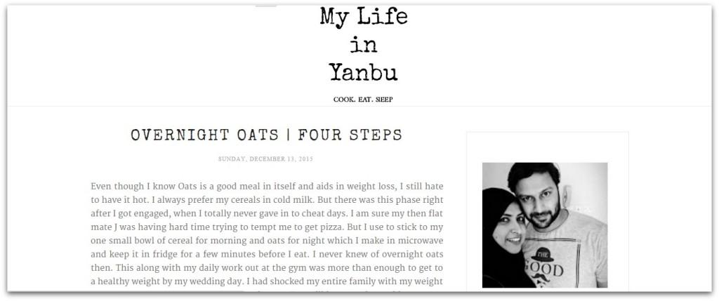 My life in Yanbu