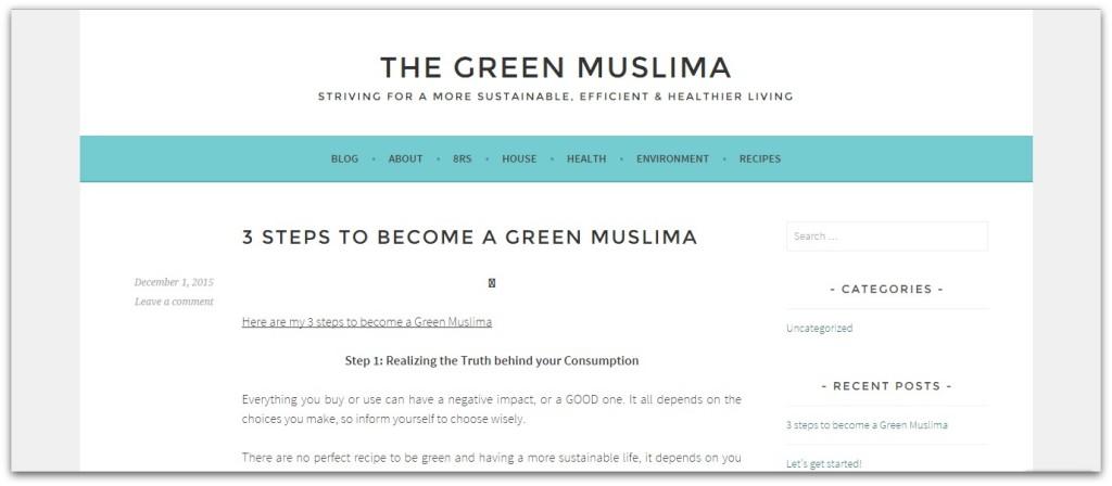 The green muslima