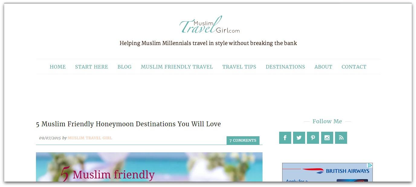 muslim travel girl