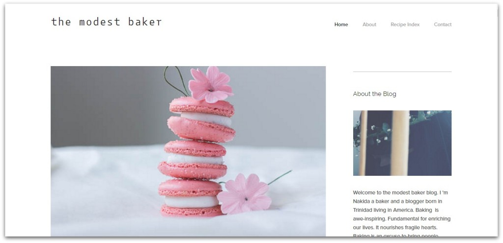 the modest baker