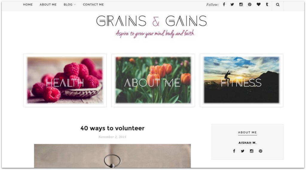 Grains and gains 40 ways to volunteer